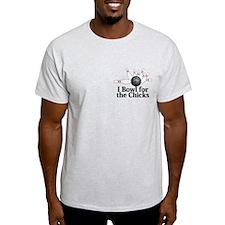 I Bowl For The Chicks Logo 2 T-Shirt Design