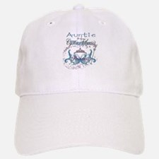 Auntie to a Cystic Fibrosis Warrior Blue Baseball Baseball Cap