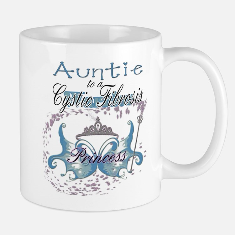 Auntie to a Cystic Fibrosis Warrior Blue Mug