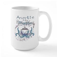Auntie to a Cystic Fibrosis Warrior Blue Mug
