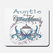 Auntie to a Cystic Fibrosis Warrior Blue Mousepad