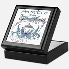 Auntie to a Cystic Fibrosis Warrior Blue Keepsake