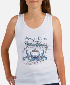Auntie to a Cystic Fibrosis Warrior Blue Women's T