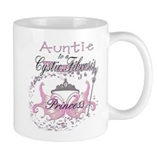 Auntie to a Cystic Fibrosis Warrior in Pink Mug