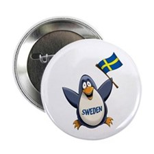 "Sweden Penguin 2.25"" Button (100 pack)"
