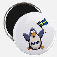 Sweden Penguin Magnet