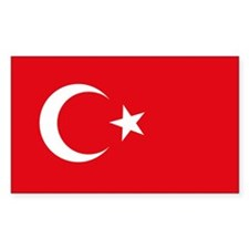 Turkey Flag Rectangle Decal