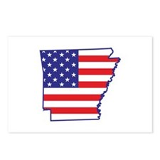 AR USA Flag Map 1 Postcards (Package of 8)