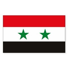 Syria Flag Rectangle Decal