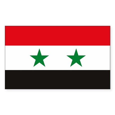 Syria Flag Rectangle Sticker