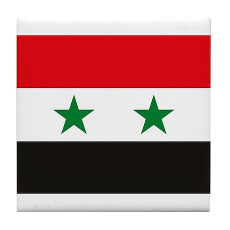 Syria Flag Tile Coaster