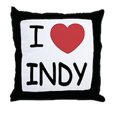 I heart Indy Throw Pillow