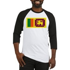 Sri Lanka Flag Baseball Jersey