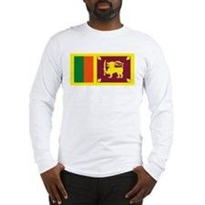 Sri Lanka Flag Long Sleeve T-Shirt