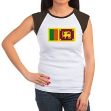 Sri Lanka Flag Women's Cap Sleeve T-Shirt