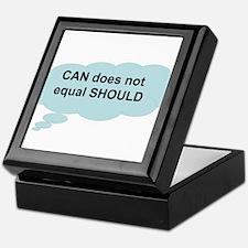 can does not equal should Keepsake Box