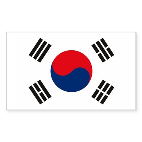 South Korea Flag Rectangle Sticker