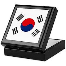 South Korea Flag Keepsake Box