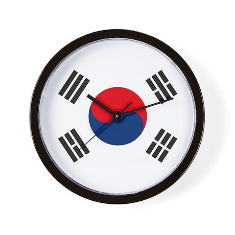 South Korea Flag Wall Clock
