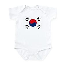 South Korea Flag Infant Creeper