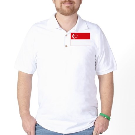Singapore Flag Golf Shirt