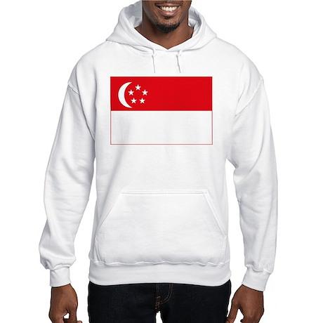 Singapore Flag Hooded Sweatshirt