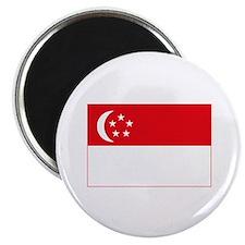 "Singapore Flag 2.25"" Magnet (10 pack)"