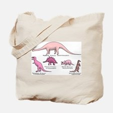 Pretty in Pink Dinosaur Tote Bag