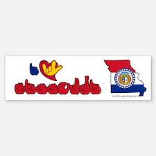 ILY Missouri Bumper Bumper Sticker