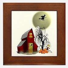 Spooky Barn Framed Tile
