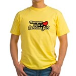 Everyone Loves A Carolina Girl Yellow T-Shirt