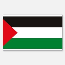 Palestine Flag Rectangle Decal