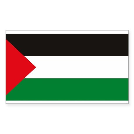 Palestine Flag Rectangle Sticker