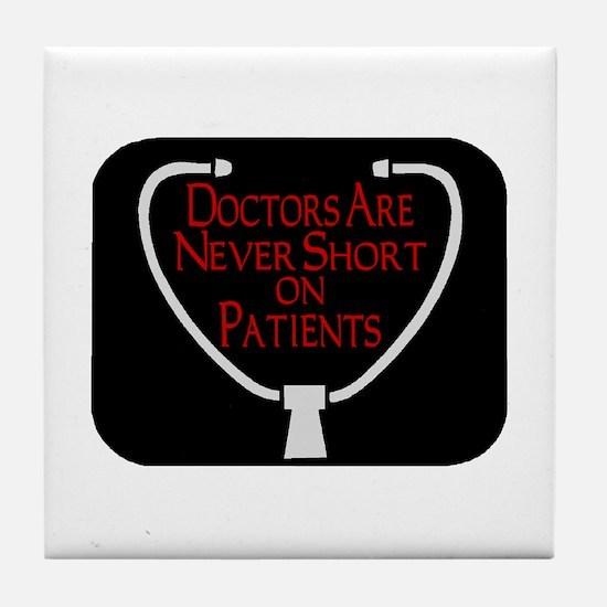 Doctors Patients Tile Coaster