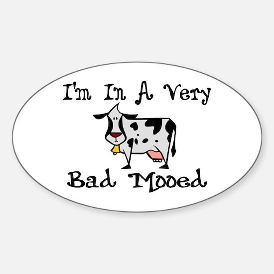 Bad Mooed Sticker (Oval)
