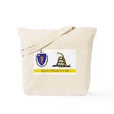 Dont Tread on Me Massachusett Tote Bag