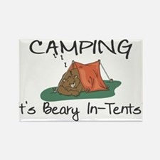 Beary In-Tents Rectangle Magnet