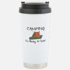 Beary In-Tents Stainless Steel Travel Mug