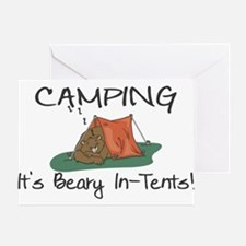 Beary In-Tents Greeting Card