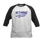 Got Freedom? USAF Kids Baseball Jersey