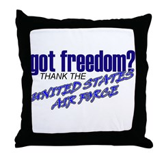 Got Freedom? USAF Throw Pillow