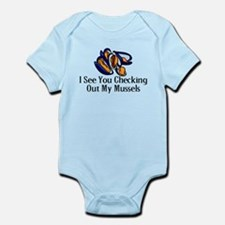 Checking Out Mussels Infant Bodysuit