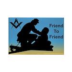 Masonic Friend 2 Friend Rectangle Magnet (10 pack)