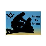 Masonic Friend 2 Friend Rectangle Magnet