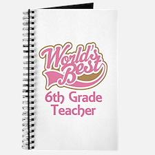 Worlds Best 6th Grade Teacher Journal