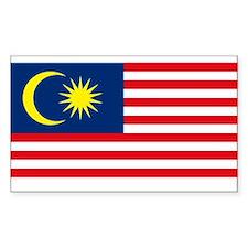 Malaysia Flag Rectangle Bumper Stickers
