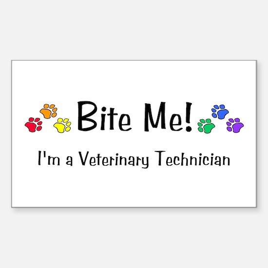 Rectangle Sticker - Bite Me! design