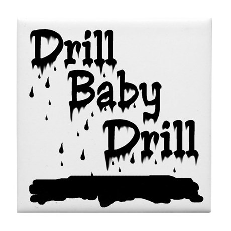 drill baby...ooops Tile Coaster