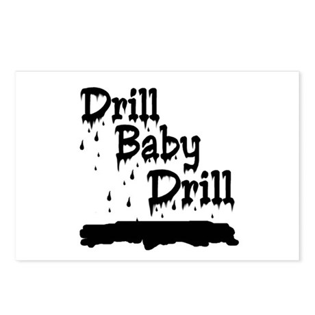 drill baby...ooops Postcards (Package of 8)