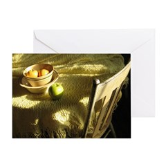 Stillife with sunlight and chair Greeting Card